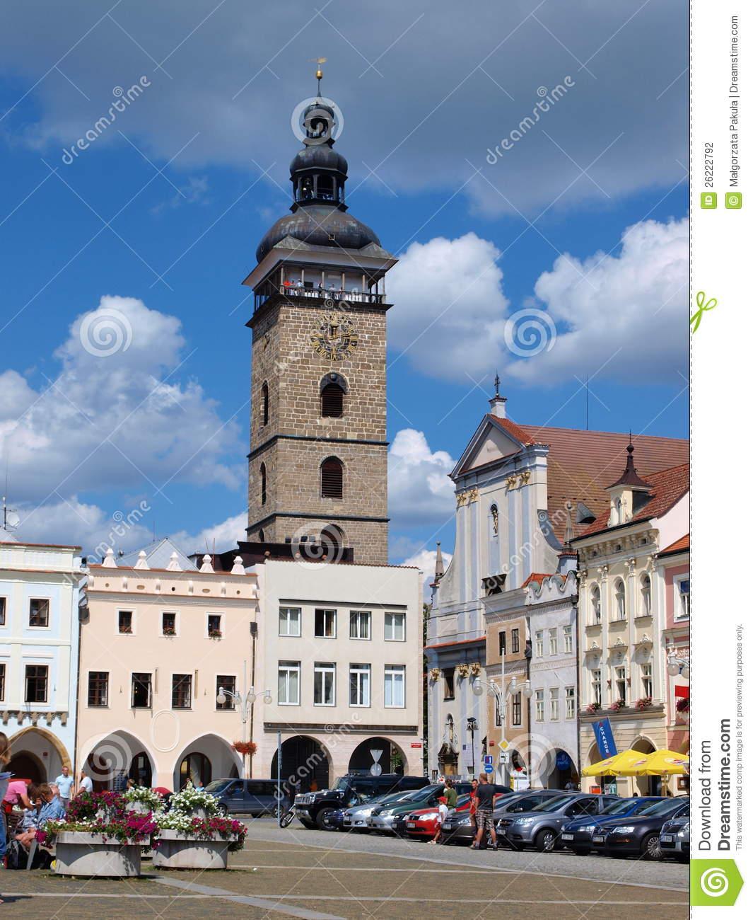 Main Square, Ceske Budejovice, Czech Republic Editorial.