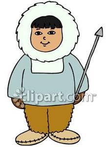 Cartoon eskimo clipart.