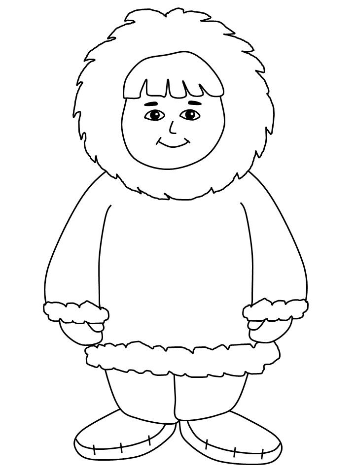 Eskimo Coloring Pages.