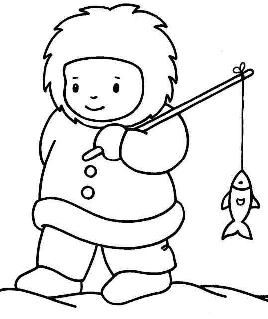 Eskimo black and white clipart 1 » Clipart Portal.