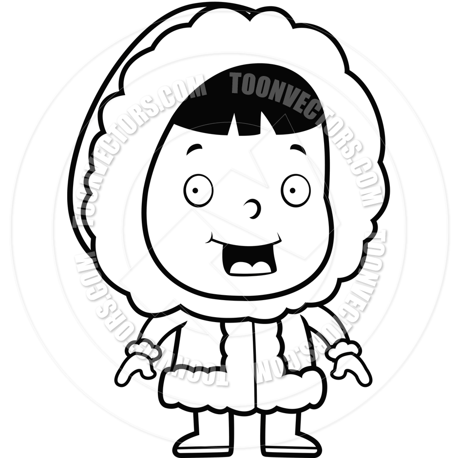 Eskimo Child (Black and White.