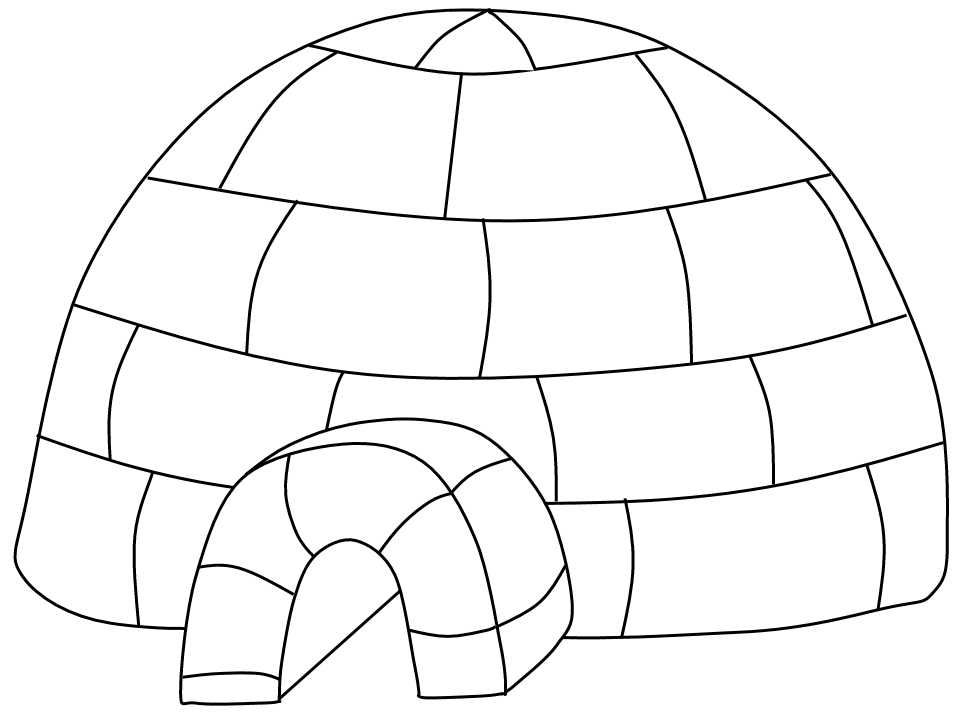 Igloo Outline Clipart.
