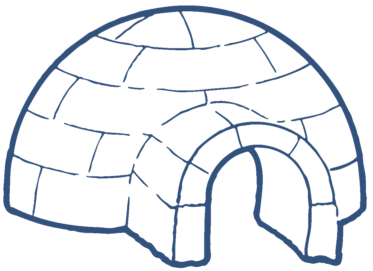 Igloo house clipart.