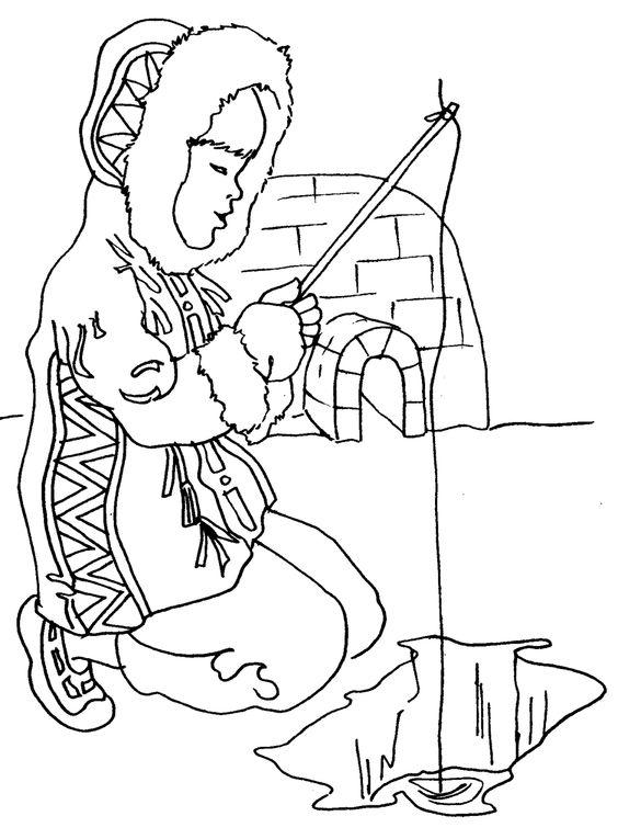 Inuit Coloring Pages: Eskimos Clipart B Eskimo Clipart.