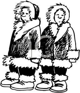 Picture: Two Black and White Eskimos.