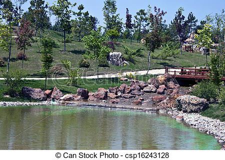 Stock Photo of Japanese garden in Eskisehir, Turkey csp16243128.