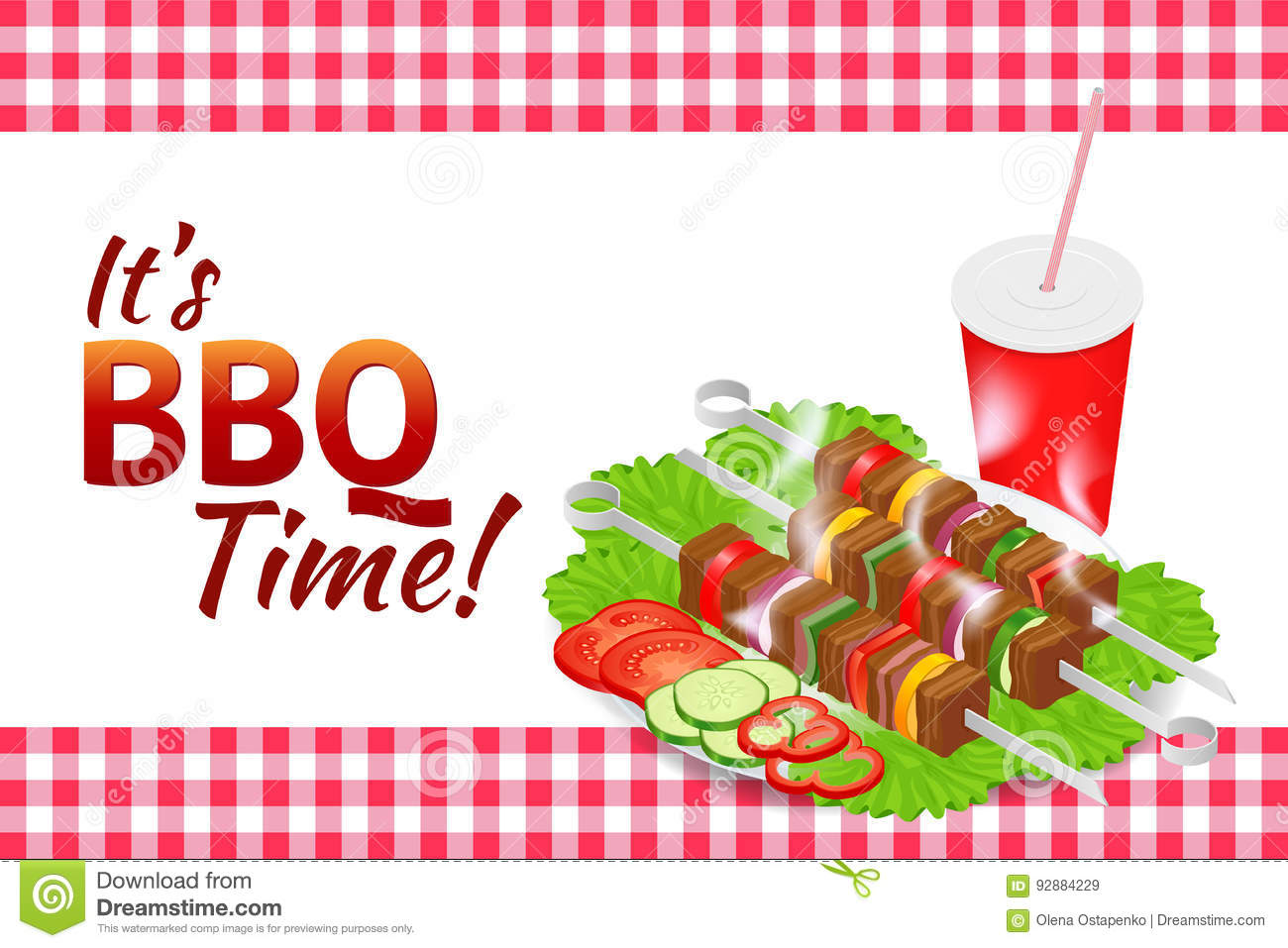 Food Picnic Stock Illustrations.
