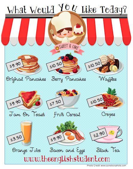 ESL, Breakfast items and Food on Pinterest.