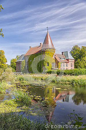 Ortofta Castle Sweden Stock Photo.