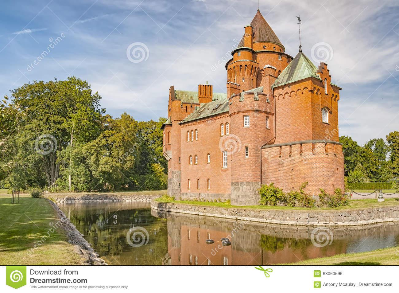 Hjularod Castle Stock Photo.