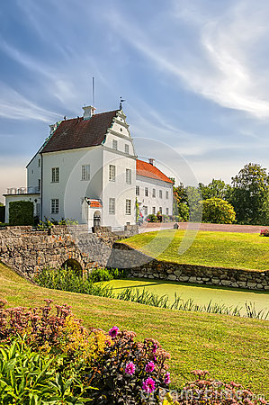 Hjularod Fairytale Castle Stock Photo.