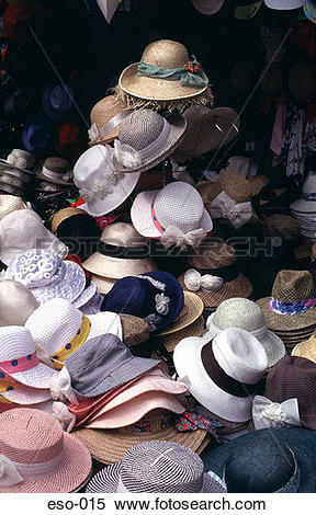 Stock Image of Pile of Hats on Market Stall Korea eso.