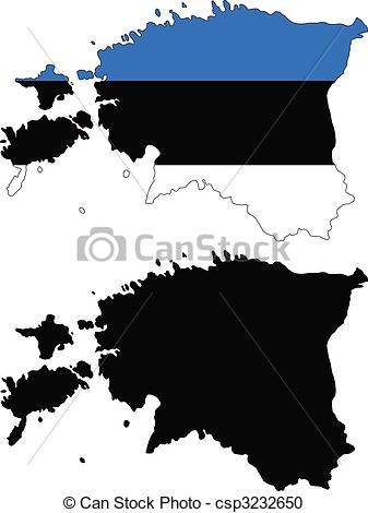 Vector Clipart of estonia.