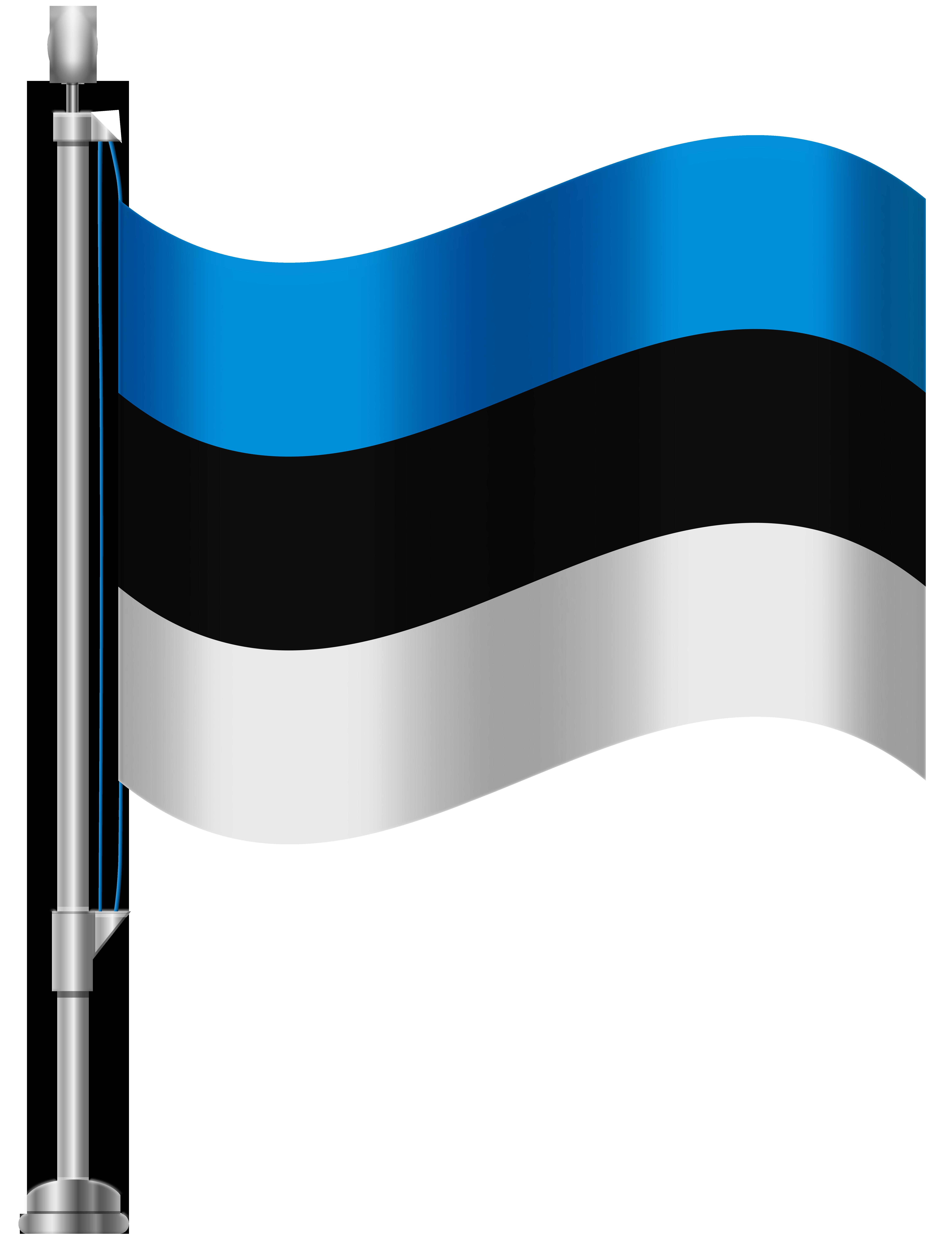 Estonia Flag PNG Clip Art.
