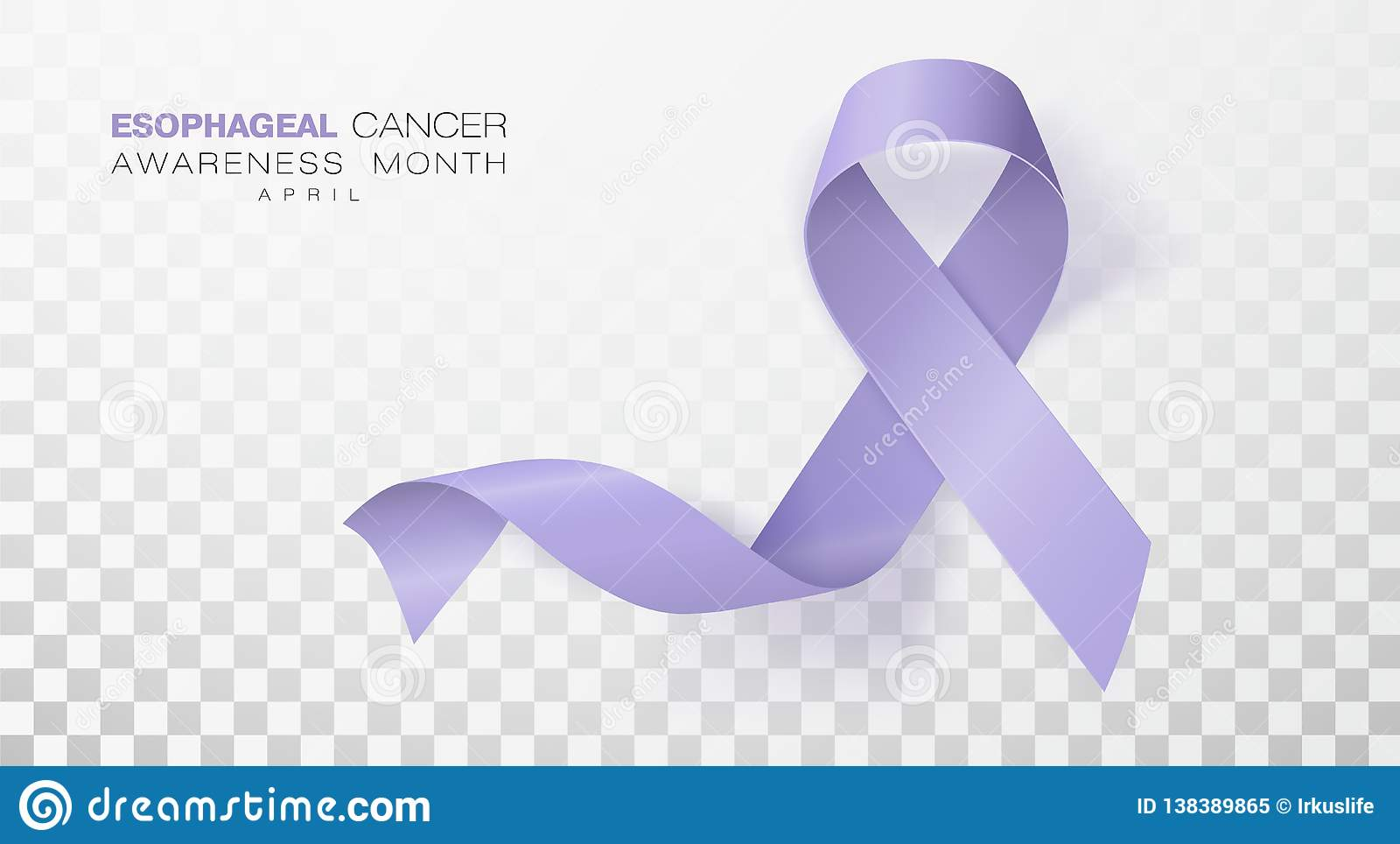 Esophageal Cancer Awareness Month. Periwinkle Color Ribbon Isolated.