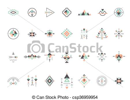 Clipart Vector of Esoteric, Alchemy, sacred geometry, tribal and.