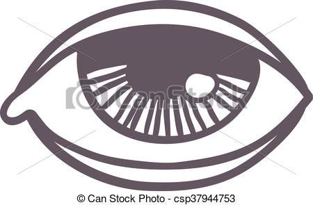 Clipart Vector of Esoteric eye symbol vector illustration.