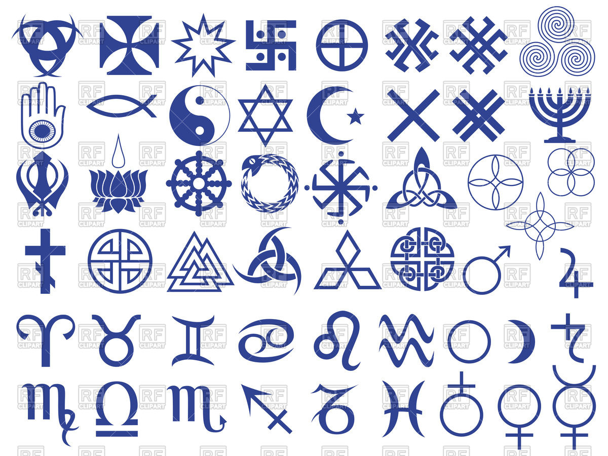 Set of esoteric symbols created by mankind Vector Image #66778.