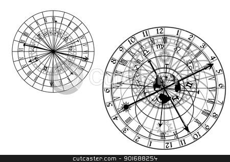 vector astronomical clock stock vector.