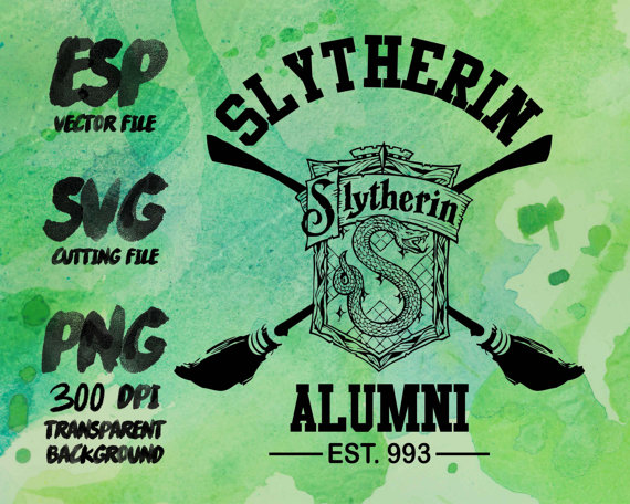 Slytherin Alumni Clipart SVG Cutting ESP by CreationTreasure.