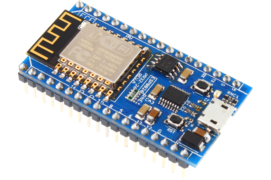 ESP8266 IoT Communication Module with Integrated USB.
