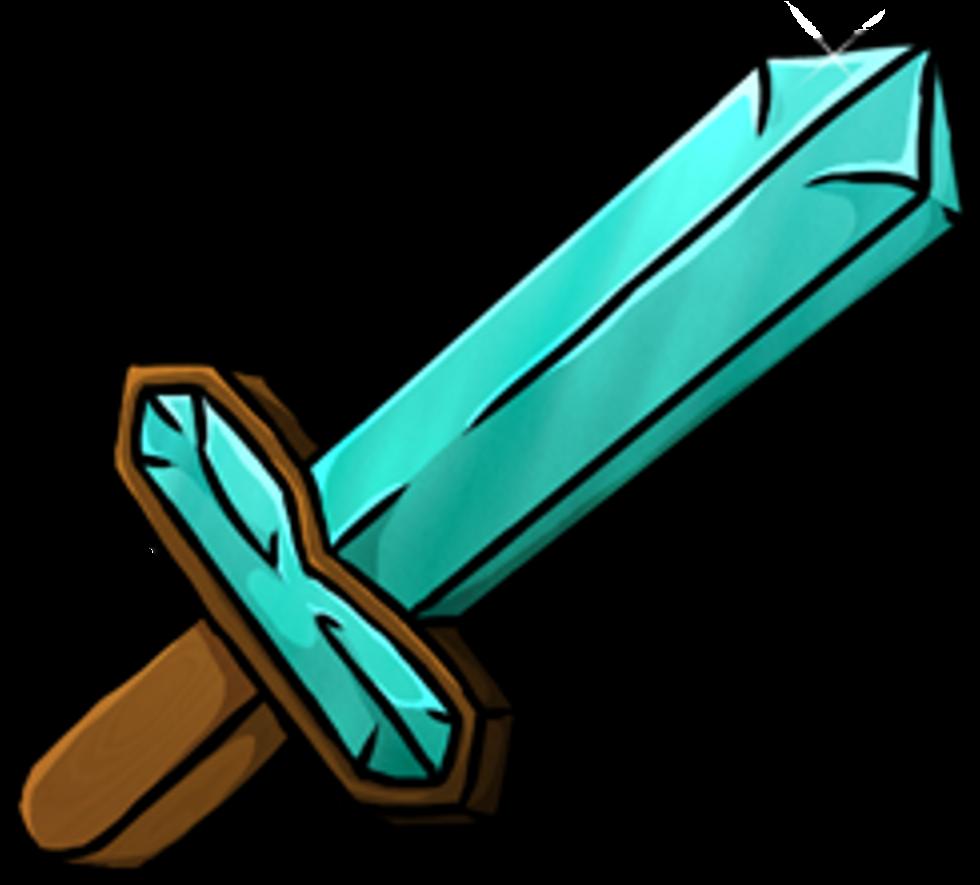 Espada De Minecraft Png Clipart.