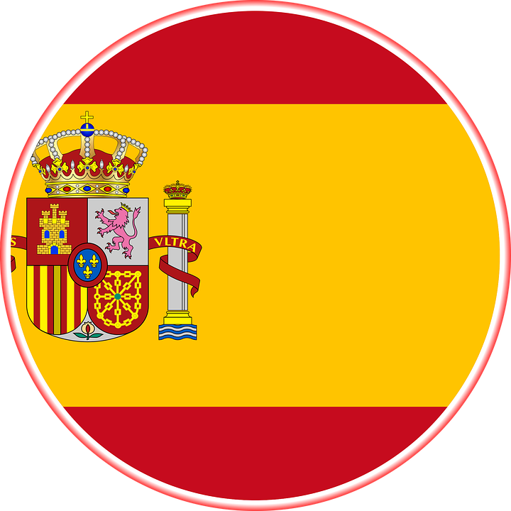 Spain Flag Graphic.