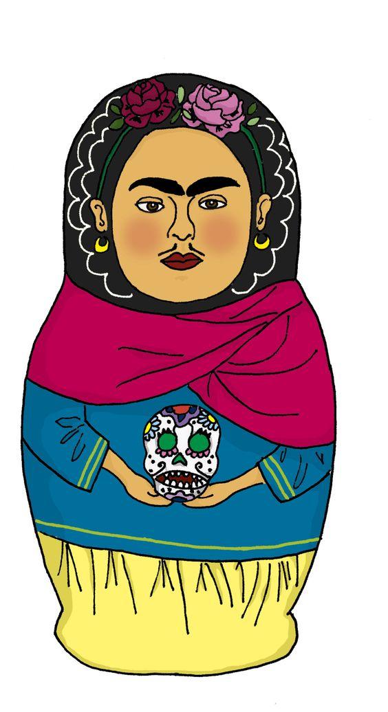 una mamushka de Frida Kahlo. no sé qué hay en su interior. espero.