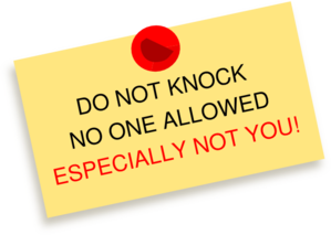 Do Not Knock No One Allowed Especially Not You Thumbtack Note Clip.