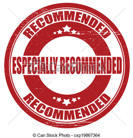 Clip Art Vector of Especially recommended.
