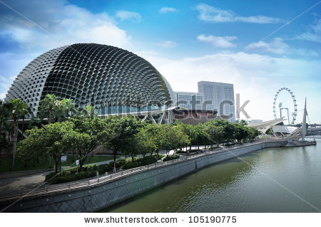 Singapore Esplanade Stock Photos, Royalty.