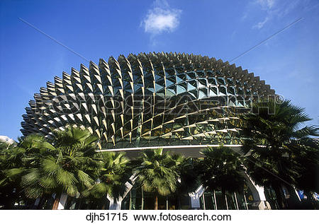 Stock Image of Singapore, Marina Square, Esplanade Arts Centre.