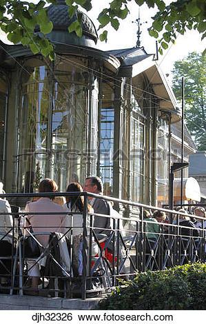 Stock Images of Finland, Helsinki, Helsingfors, Esplanadi Park.