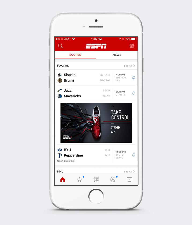 ESPN the App — Joey Lasko's Portfolio.