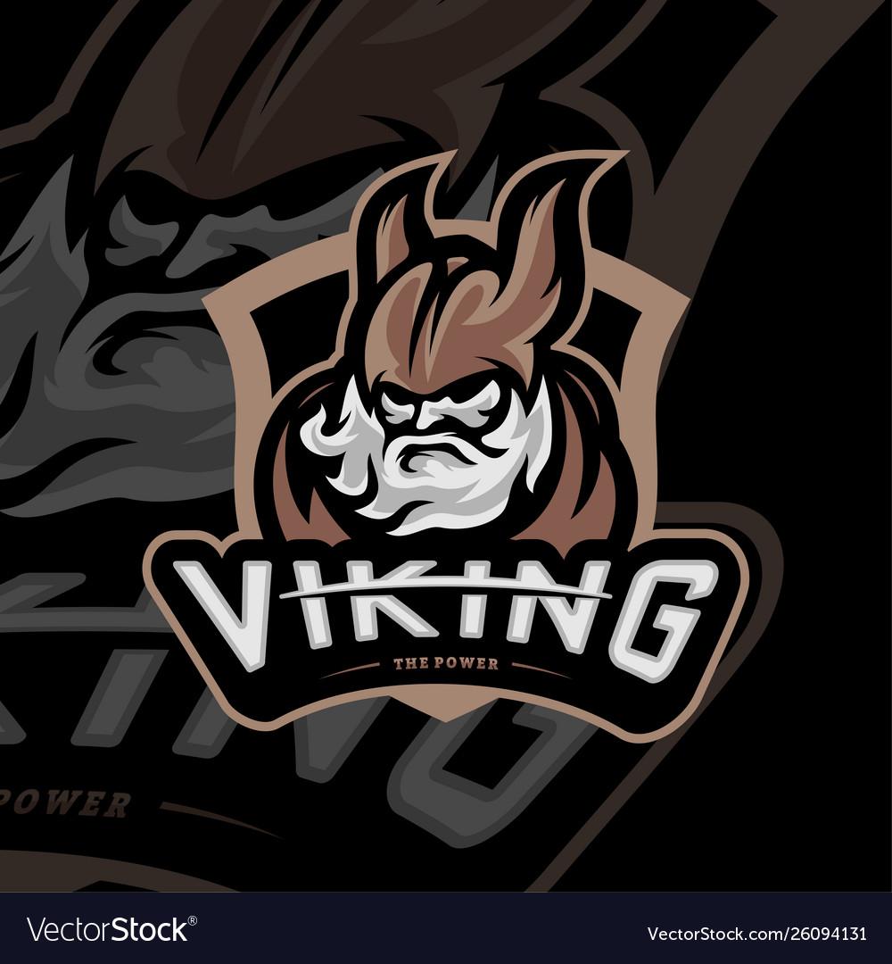 Viking esports logo design viking mascot gaming.