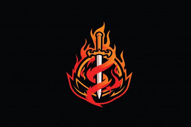 Flaming sword clip.