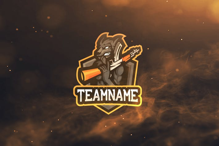 Wolf Sport and Esports Logos by ovozdigital on Envato Elements.