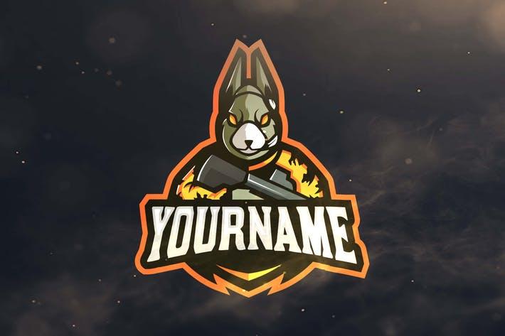 Rabbit Sport and Esports Logos by ovozdigital on Envato Elements.