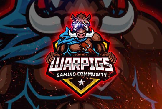 design sport, esport, mascot logo.