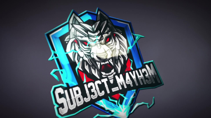 create an epic twitch esports mascot logo.