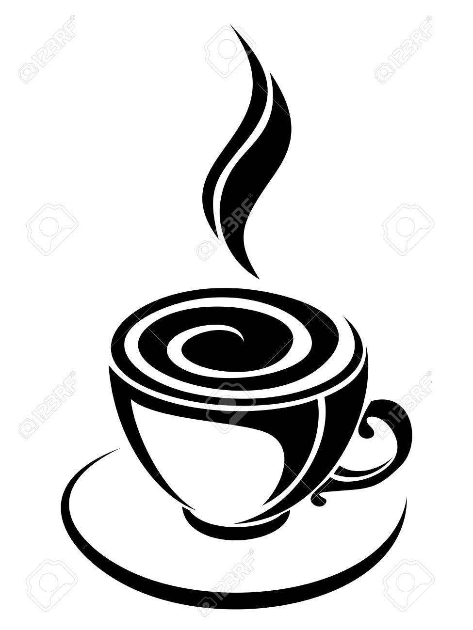 coffee silhouette.