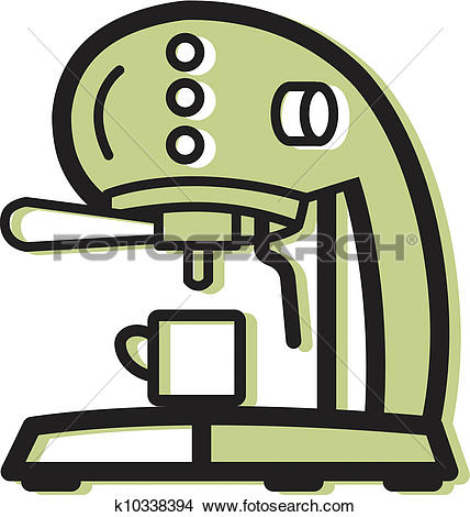 Drawings of Illustration of an espresso machine k10338394.