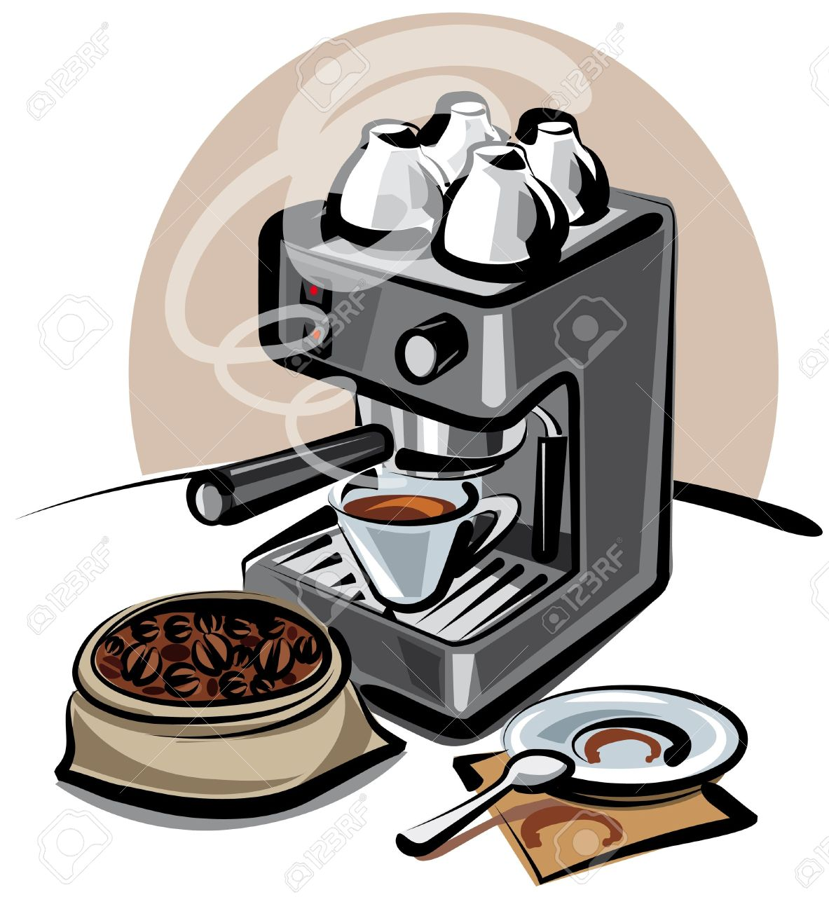 Coffee Machine Royalty Free Cliparts, Vectors, And Stock.