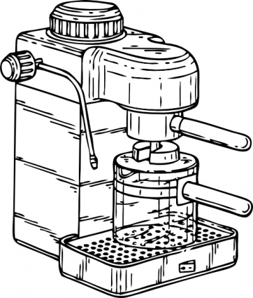 Clip art espresso machine.