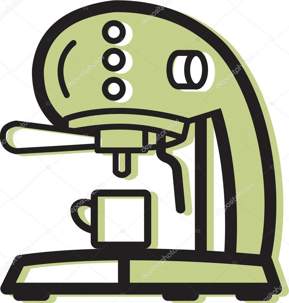 Illustration of an espresso machine — Stock Photo © sparkstudio.