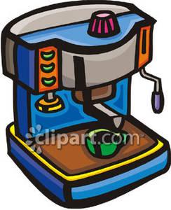 Espresso Machine Making Coffee.