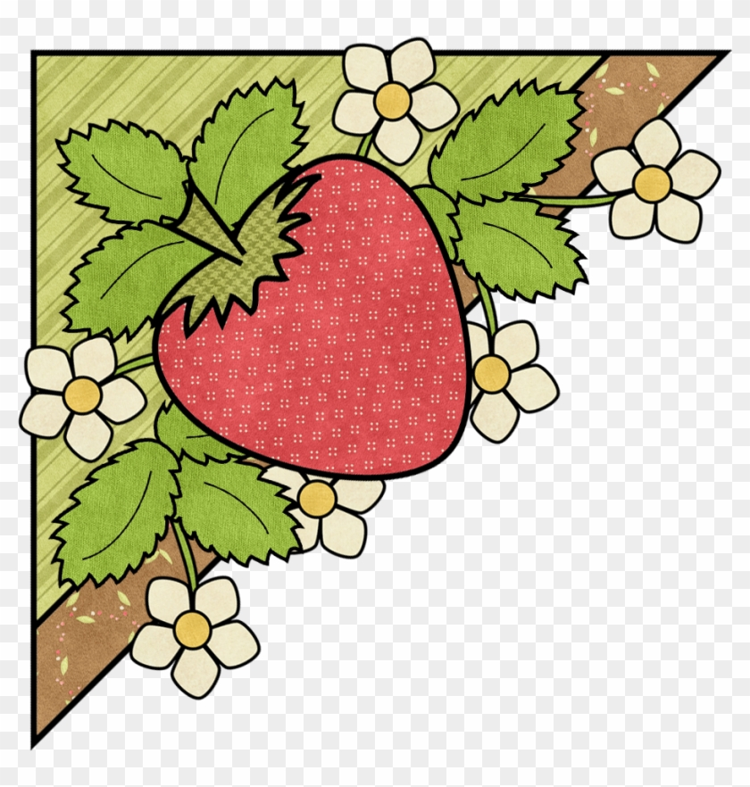 Ch B *✿ *esquineras ✿ Strawberry Png, Strawberry Clipart.