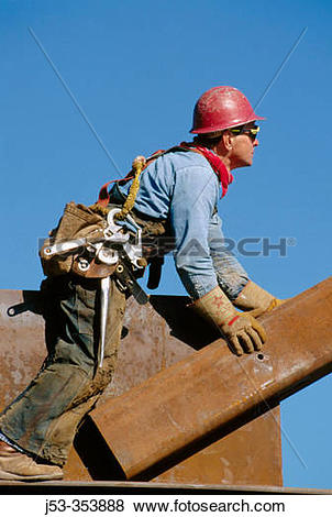 Pictures of Ironworker, connector. Esquire Plaza building.
