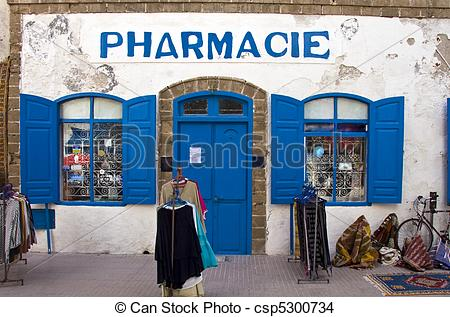 Stock Photo of Pharmacy in Essaouira, Morocco csp5300734.