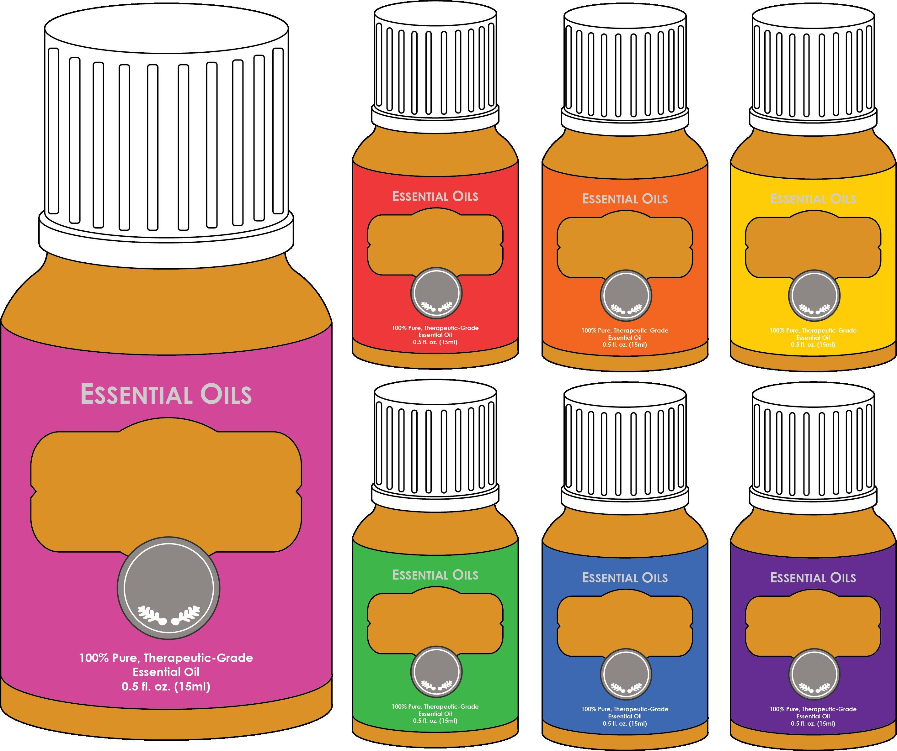 Essential Oils Bottle Clipart, Oil Clipart, Bottle Clipart SVG 300DPI PNG  Planner Sticker Graphics Planner Sticker Icon illustration.